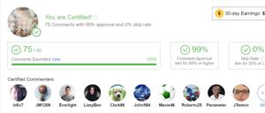 Wealthy Affiliate platform-Site comments!