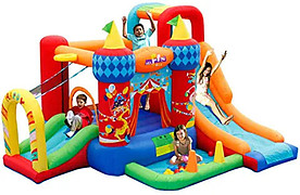 physical activity, inflatable castle